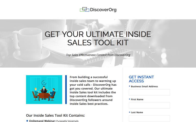 Your Ultimate & Effective Inside Sales Tool Kit | DiscoverOrg