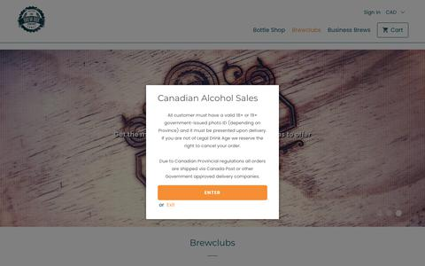 Screenshot of Signup Page thebrewbox.co - Brewclubs - The Brew Box Co - captured Oct. 20, 2018