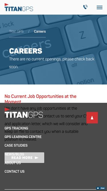 Screenshot of Jobs Page  titangps.ca - Careers Archive - Titan GPS
