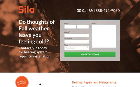 Screenshot of Landing Page sila.com - Landing: Heat - Sila Air Conditioning and Heating Repairs - captured Oct. 27, 2014