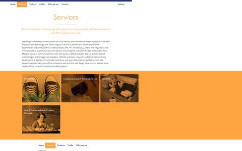 Screenshot of Services Page formicablu.it - Services – formicablu - captured Nov. 25, 2016