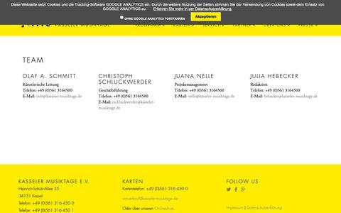 Screenshot of Team Page kasseler-musiktage.de - Team - Kasseler Musiktage e. V. - captured Oct. 22, 2018