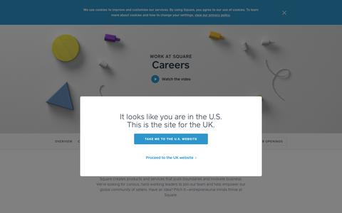 Screenshot of Jobs Page squareup.com - Work at Square - captured July 26, 2017