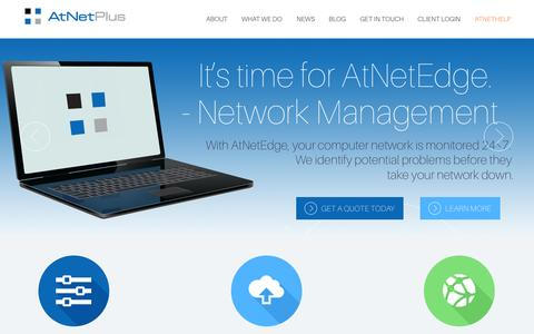 Screenshot of Home Page atnetplus.com - AtNetPlus, Inc. - Keep Connected, Keep Secure, Keep Working - captured Jan. 21, 2015