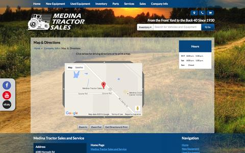 Screenshot of Maps & Directions Page medinatractor.com - Map and Driving Directions Medina Tractor Sales and Service Medina, OH (330) 725-4951 - captured Feb. 12, 2016