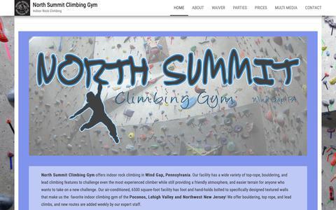 Screenshot of Home Page northsummitclimbing.com - - North Summit Climbing Gym - captured Oct. 20, 2018