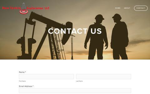 Screenshot of Contact Page newcenturyexp.com - Contact — New Century Exploration LLC - captured Feb. 14, 2016