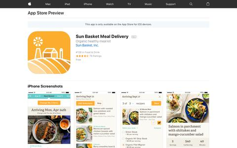 Sun Basket Meal Delivery on the AppStore