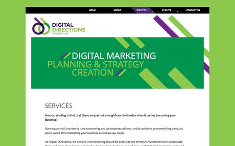 Screenshot of Services Page digitaldirectionsmarketing.co.uk - Digital Directions Marketing | Online Marketing Services - captured Aug. 2, 2016