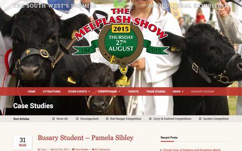 Screenshot of Case Studies Page melplashshow.co.uk - Case Studies | The Melplash Show - captured Oct. 27, 2014