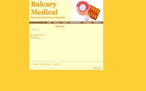Screenshot of Site Map Page balcary.com - Balcary Ltd - captured Oct. 5, 2014