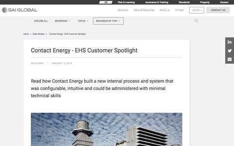 Screenshot of Case Studies Page saiglobal.com - Contact Energy - EHS Customer Spotlight - captured Dec. 12, 2019