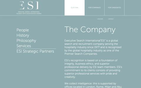 Screenshot of Services Page esiglobal.com - ESI | Services - captured Sept. 30, 2018