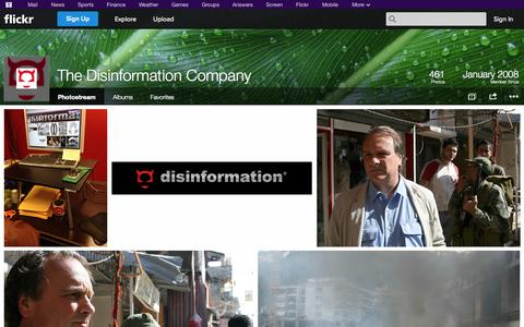 Screenshot of Flickr Page flickr.com - Flickr: The Disinformation Company's Photostream - captured Oct. 26, 2014