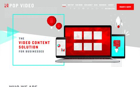Screenshot of Home Page popvideo.com - Pop Video   Houston Video Production & Strategic Marketing Agency - captured Jan. 25, 2018