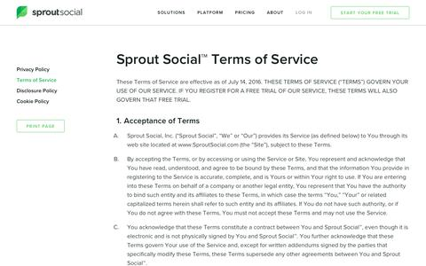 Terms of Service   Sprout Social