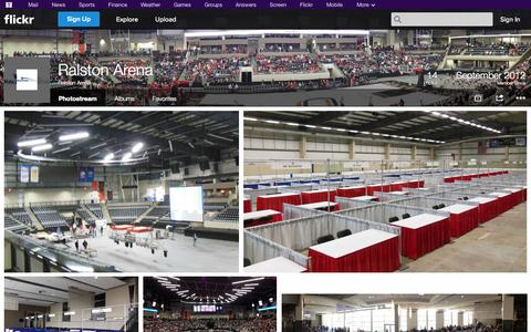 Screenshot of Flickr Page flickr.com - Flickr: Ralston Arena's Photostream - captured Oct. 27, 2014