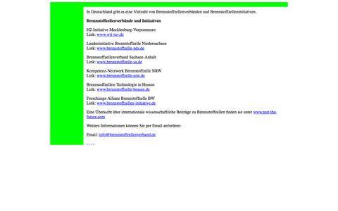 Screenshot of Home Page brennstoffzellenverband.de - Brennstoffzellenverband und Brennstoffzelleninitiative in Deutschland fuel cell Brennstoffzelle - captured Oct. 19, 2015