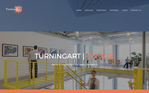 Screenshot of Case Studies Page turningart.com - TurningArt | On Site - captured April 28, 2018