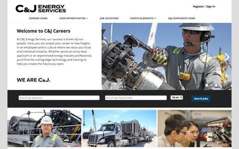 Screenshot of Jobs Page cjenergy.com - C&J Energy Services Jobs - captured Sept. 25, 2018