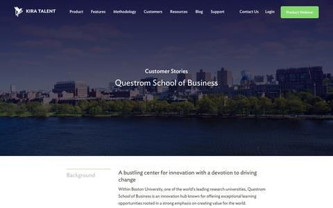 Screenshot of Case Studies Page kiratalent.com - Questrom School of Business - Customer Story | Kira Talent - Video Admissions Platform - captured Dec. 25, 2016