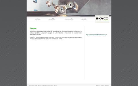 Screenshot of Home Page skyco.com.br - Skyco - Comércio e Representação de Produtos Industriais Limitada - captured Oct. 4, 2014
