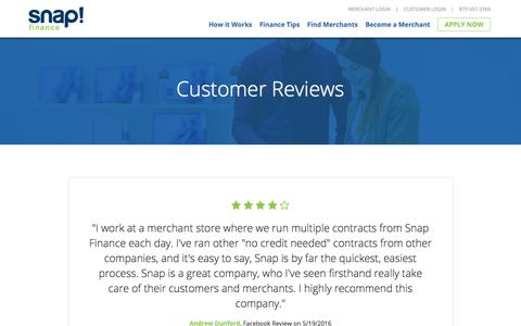 Customer Reviews | Real Reviews from Snap Finance Customers