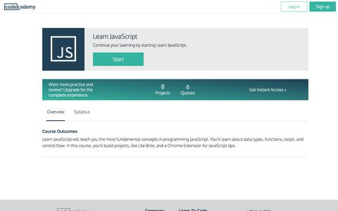 Learn JavaScript | Codecademy