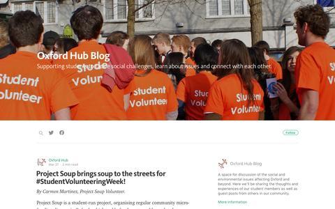 Screenshot of Blog oxfordhub.org - Oxford Hub Blog - captured June 14, 2017