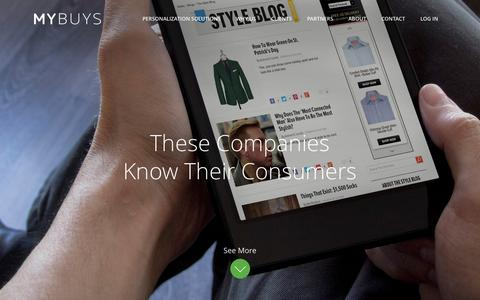 Screenshot of Case Studies Page mybuys.com - Current Clients | MyBuys - captured Oct. 10, 2014
