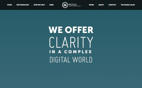 Screenshot of Home Page mogul.co.nz - Mogul – smarter thinking online | NZ digital marketing and web strategy - captured Oct. 9, 2014