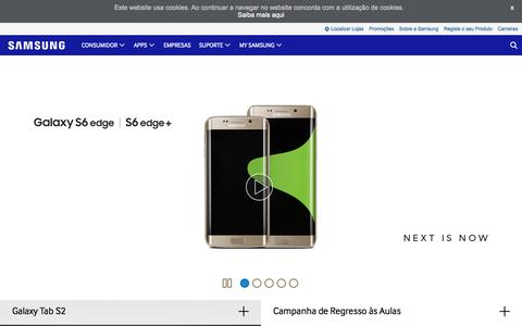 Screenshot of Home Page samsung.com - Samsung Portugal   SAMSUNG - captured Sept. 4, 2015