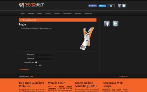 Screenshot of Pricing Page vividmint.com - Login - captured Dec. 16, 2016