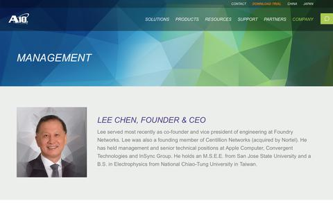 Screenshot of Team Page a10networks.com - A10 Networks' Management Team | A10 Networks - captured March 1, 2018