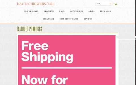 Screenshot of shophcw.com - The HauteChicWebstore - Official Site - captured Feb. 29, 2016