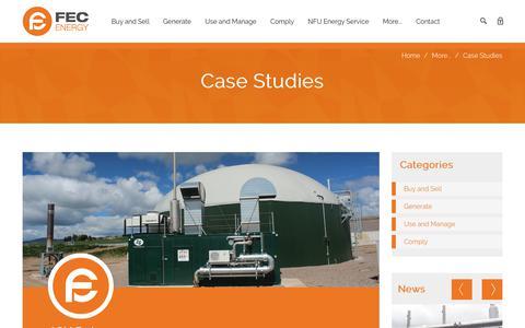 Screenshot of Case Studies Page fec-energy.co.uk - Case Studies | FEC Energy - captured July 8, 2018