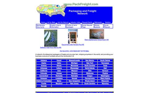 Screenshot of Home Page packfreight.com - PackFreight.com-The Packaging and Freight Network:Professionals Around the U.S. - captured Oct. 1, 2014