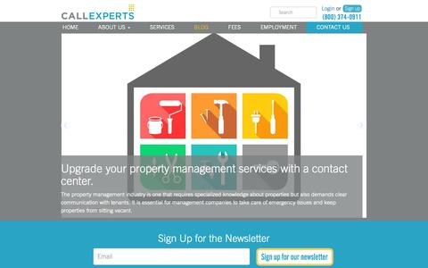 Screenshot of Blog callexperts.com - Contact Center & Customer Service Blog - Call Experts - captured Dec. 7, 2018