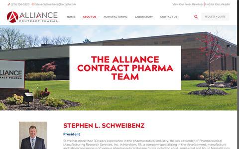 Screenshot of Team Page alcoph.com - The Alliance Contract Pharma Team | Alliance Contract Pharma - captured Oct. 3, 2018