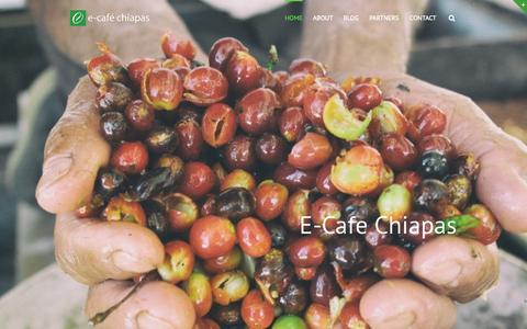 Screenshot of Home Page e-cafechiapas.com - e-café chiapas sa de cv - captured Jan. 23, 2015