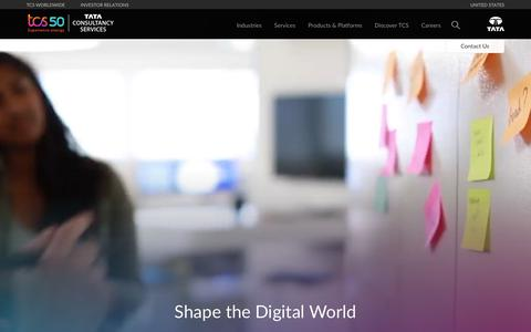 Screenshot of Jobs Page tcs.com - TCS Careers   Job Search, Work Culture and Values - captured Feb. 12, 2019