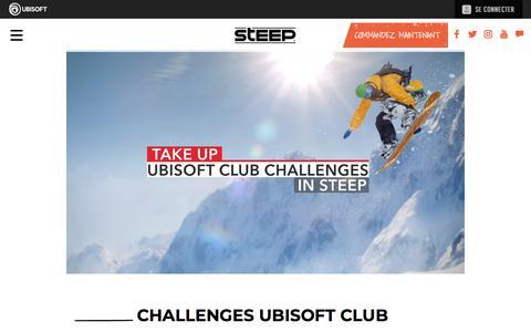 Screenshot of Press Page ubisoft.com - Challenges Ubisoft Club | Actualités | Steep sur PS4, Xbox One & PC | Ubisoft (CA) - captured Nov. 8, 2019