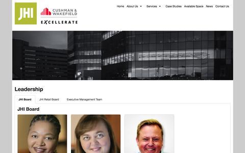 Screenshot of Team Page jhi.co.za - Leadership - captured July 25, 2018