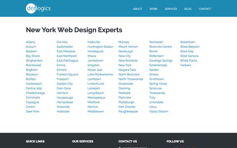 Screenshot of Locations Page dotlogics.com - Dotlogics - New York Experts, Web Designers Brooklyn - captured April 22, 2017