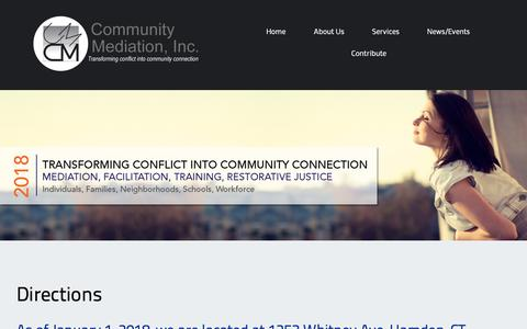 Screenshot of Maps & Directions Page community-mediation.org - Directions – Community Mediation, Inc. - captured Dec. 15, 2018