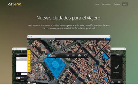 Screenshot of Home Page getone.gs - Bienvenido a GetOne - captured July 21, 2015