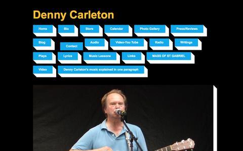 Screenshot of Contact Page dennycarleton.com - Denny Carleton | singer songwriter,guitar teacher | Contact - captured June 5, 2016
