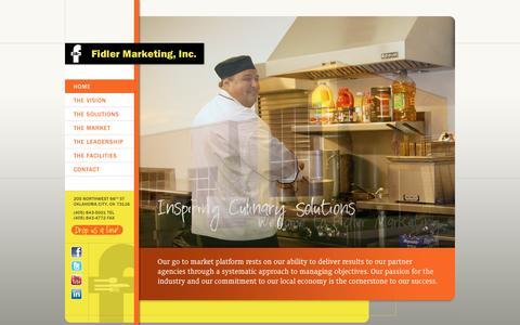 Screenshot of Home Page fidlermarketing.com - Home - Fidler Marketing, Inc. :: Fidler Marketing, Inc. - captured Jan. 26, 2015