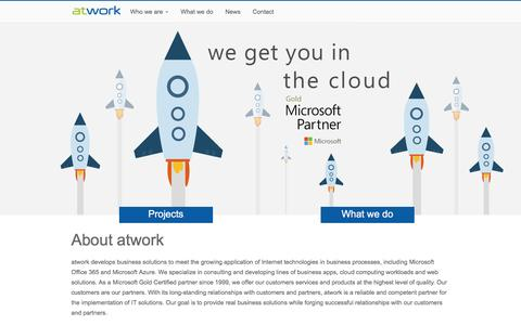 Screenshot of Home Page atwork-it.com - About atwork - atwork information technology gmbh - captured May 7, 2017