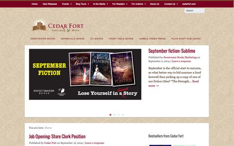 Screenshot of Blog cedarfort.com - Cedar Fort Publishing and Media Blog - captured Sept. 22, 2014
